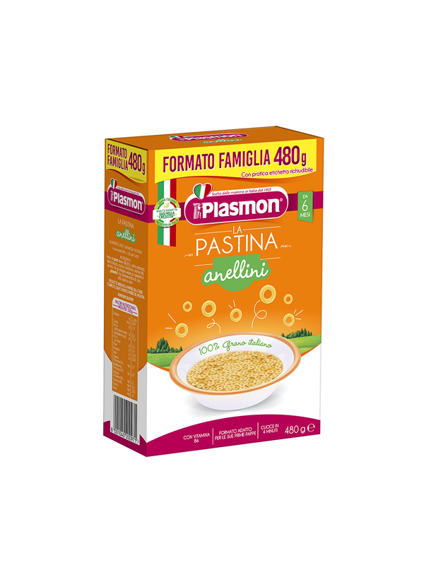 Plasmon - Pastina Anellini - 480g - Plasmon - Pastine per bambini