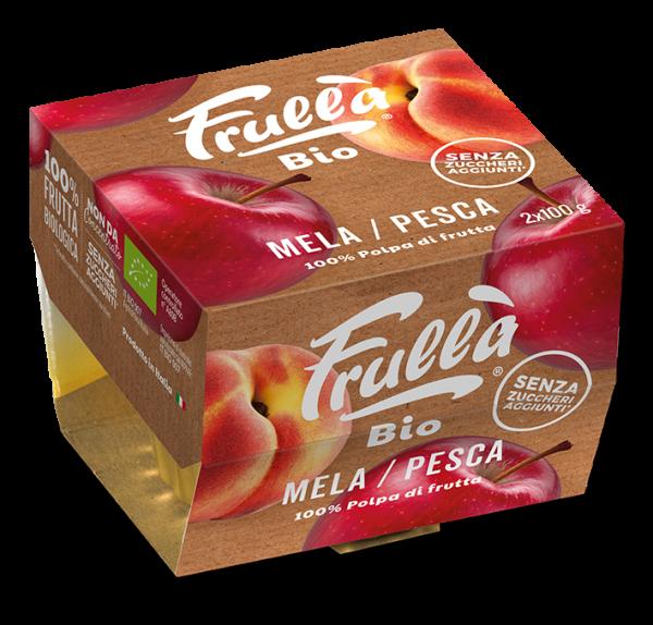 POLPA MELA PESCA BIO 2X100GR - Natura Nuova Bio - Frutta frullata