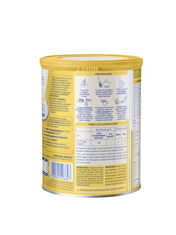 NESTLÉ NAN SUPREME 3 da 12 mesi Latte di crescita in polvere latta 800g - NESTLE' - Latte crescita 3-4-5