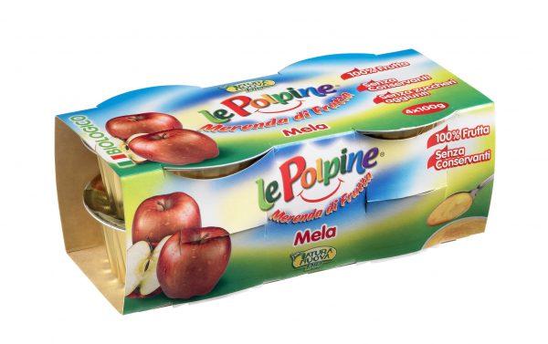 POLPA DI MELA BIO 4X100GR - Le Polpine - Frutta frullata