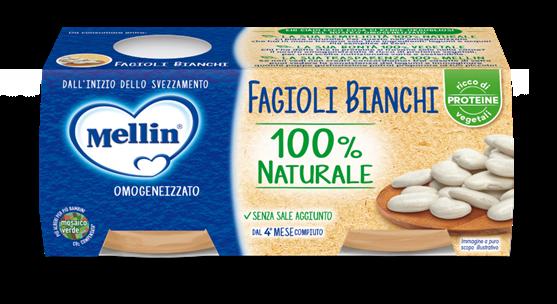 MELLIN OMOGENEIZZATO FAGIOLI BIANCHI 2X80GR - MELLIN - Omogeneizzato verdure