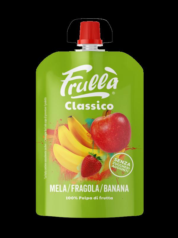 FRUTTA FRULLATA MELA FRAGOLA BANANA 100GR - Frullà - Frutta frullata