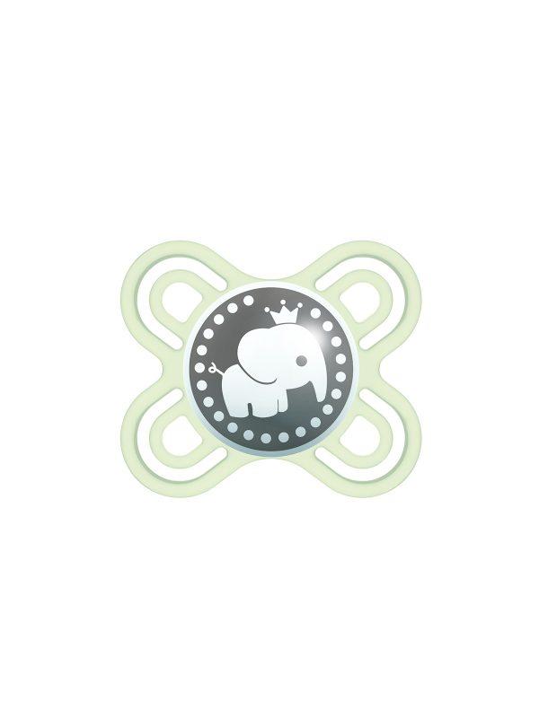 MAM Perfect Start Ciuccio in silicone, con custodia porta ciuccio, 0-2 mesi, beige - Ciucci