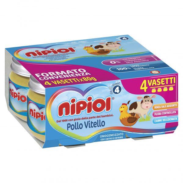 NIPIOL - OMO POLLO/VITELLO 4X80 GR - Nipiol - Omogeneizzato carne