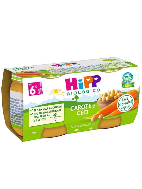 HIPP - Omogeneizzato Carote e Ceci 2x80g - Omogeneizzato verdure