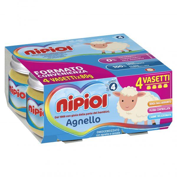 NIPIOL - OMO AGNELLO 4X80 GR. - Nipiol - Omogeneizzato carne