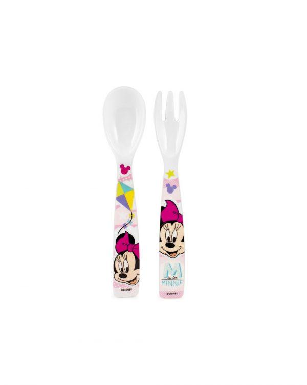 Disney - Cucchiaio e forchetta in melamina Minnie Simply - LULABI - Piatti e Set Pappa
