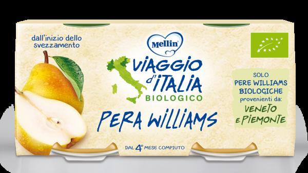 Omogenizzato Bio Pera Williams - VIAGGIO D'ITALIA - Omogeneizzato frutta