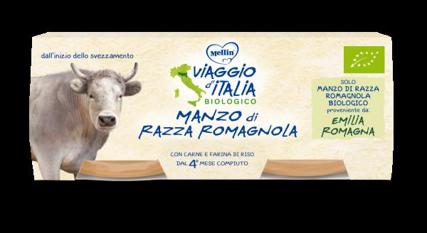 Omogeneizzato Bio Manzo di razza romagnola - VIAGGIO D'ITALIA - Omogeneizzato carne