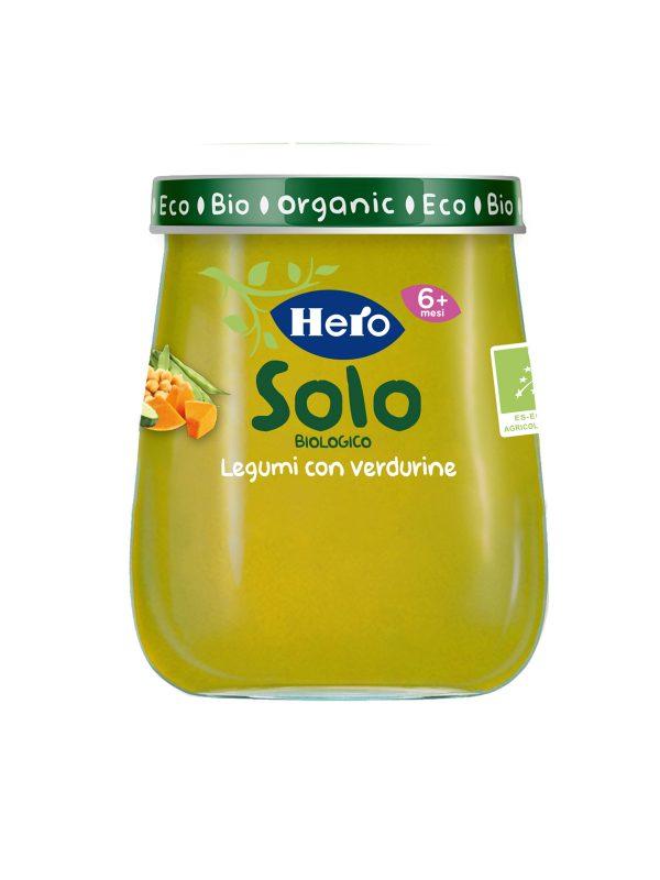 HERO SOLO OMO LEGUMI VERDURE 120G - Hero Solo - Omogeneizzato verdure