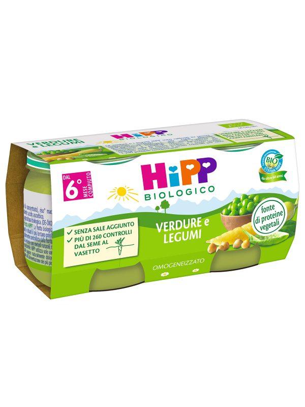 HIPP - Omogeneizzato Verdure e Legumi 2x80g - Omogeneizzato verdure