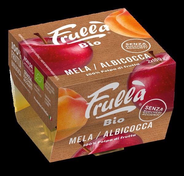 POLPA MELA ALBICOCCA BIO 2X100GR - Natura Nuova Bio - Frutta frullata