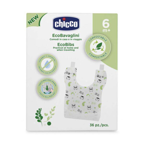 Ecobavaglini Monouso Chicco - CHICCO - Bavaglini
