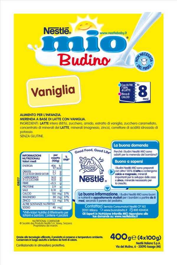 NESTLÉ MIO Budino Vaniglia da 8 mesi senza glutine 4 vasetti plastica da 100g - Nestlé Mio - Yogurt e budini per bambini