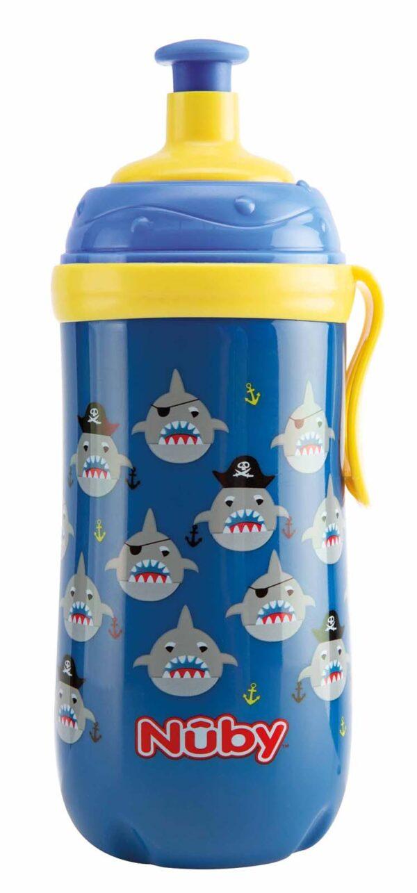 Borraccia Sipper Pop-Up con clip che si illumina al buio - 360ml - 18m+ - NUBY - Piatti e Set Pappa