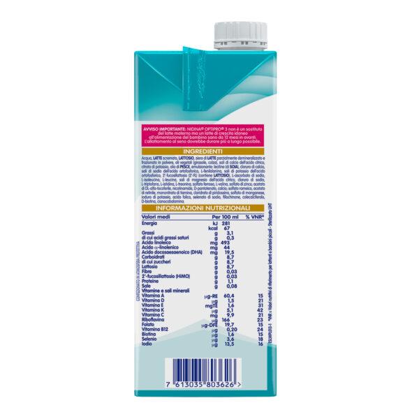 NESTLÉ NIDINA OPTIPRO 3 HM-O latte di crescita liquido da 12 mesi 6 brick da 1L - Nestlé Nidina - Latte crescita 3-4-5