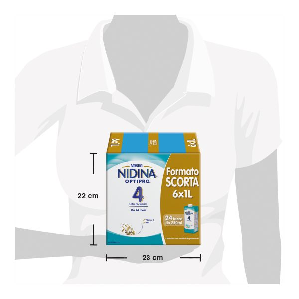 NESTLÉ NIDINA OPTIPRO 4 latte di crescita liquido da 24 mesi 6 brick da 1L - Nestlé Nidina - Latte crescita 3-4-5