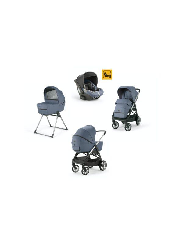 Aptica System Quattro con seggiolino Darwin Infant i-Size - colore Alaska Blue - INGLESINA - Sistemi modulari