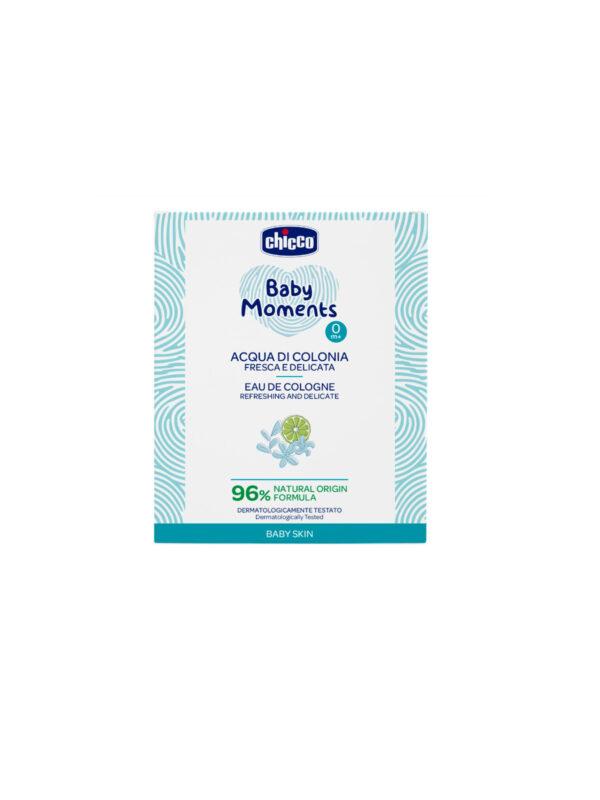 Acqua di Colonia Refr. Delicate Chicco Baby Moments Baby Skin - CHICCO - Cura e cosmesi bambino