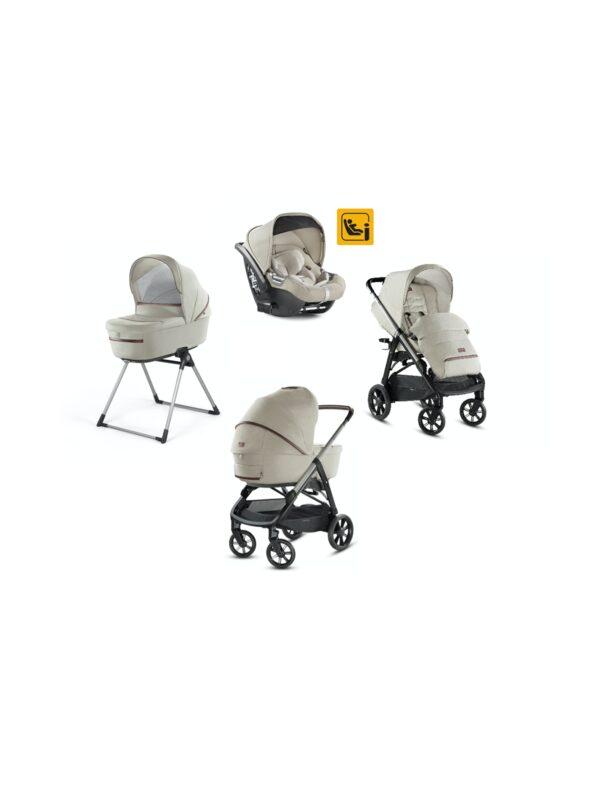 Aptica System Quattro con seggiolino Darwin Infant i-Size - colore Cashmere Beige - INGLESINA - Sistemi modulari