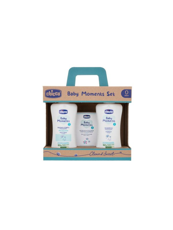 Baby Moments Set 1 Bagno corpo, Shampoo, Colonia - CHICCO - Detergenti e creme