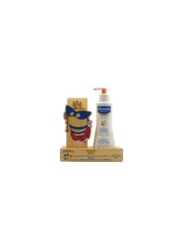 WONDER BEE: DETERGENTE NUTRIENTE ALLA COLD CREAM 300ml + CREMA VISO NUTRIENTE ALLA CC 40ML - MUSTELA - Detergenti e creme