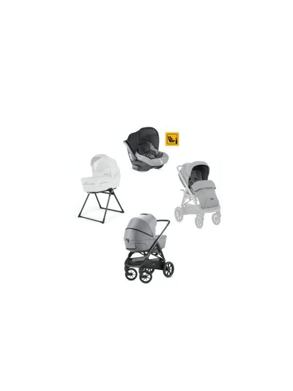 Aptica XT system Quattro con seggiolino Darwin Infant i-Size - colore Horizon Grey - INGLESINA - Sistemi modulari