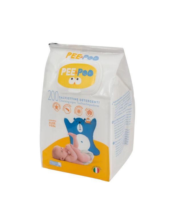 Pee&Poo - Salviettine detergenti 200 pz - PEE&POO