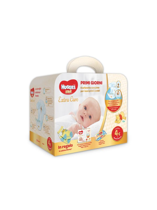 Huggies Extra Care Bebè Starter Kit - HUGGIES - Taglia 1 (2-5 kg)