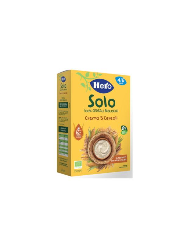 HERO Solo - Crema 5 Cereali Bio 200G - Hero Solo - Omogeneizzato verdure