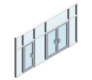 AA720 Doors - (Curtain Wall Door)