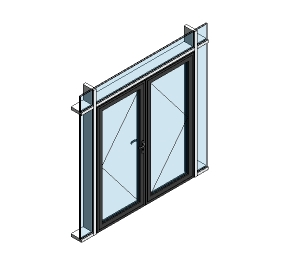 AluK 58BD Residential Double Door (Curtain Wall Insert)