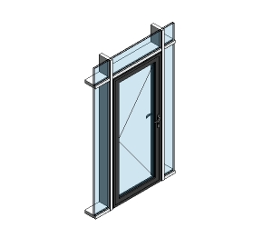 Image of AluK 58BD Residential Single Door (Curtain Wall Insert)