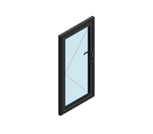 AluK 58BD Residential Single Door (Wall Insert)