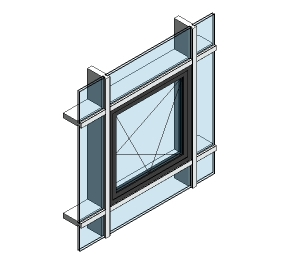 AluK 58BW Residential Open In Window (Curtain Wall Insert)