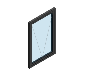 AluK 58BW Residential Open In Window (Wall Insert)