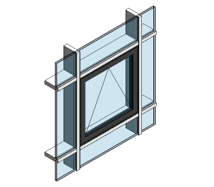 AluK 58BW Residential Open Out WIndow (Curtain Wall Insert)