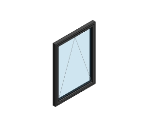 AluK 58BW ST Open Out Window (Wall Insert)