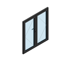 AluK 58BD Residential Double Door (Wall Insert)