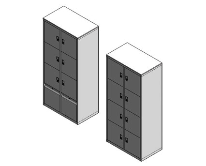 Bim, BIM, Store, Revit,Component,Object,Model,accent,flexiform,furniture,office,metal,lockers,locker,mild,steel,galvanised,bottom,drawer,unit,cabinet