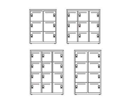 Bim, BIM, Store, Revit,Component,Object,Model,freestor,flexiform,furniture,office,metal,lockers,locker,mild,steel,galvanised,storage