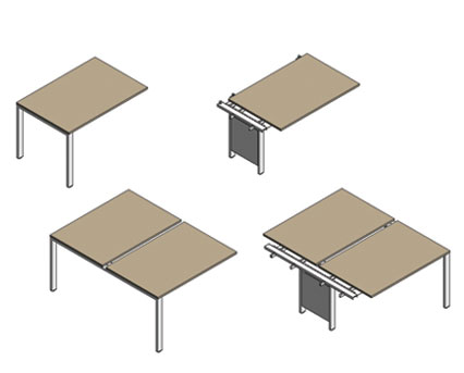 Bim, BIM, Store, Revit,Component,Object,Model,flexiform,furniture,office,desk,desking,workstation,pico,a,frame,goalpost,rectangular,loop,single,back,to,side,bench,120,degree