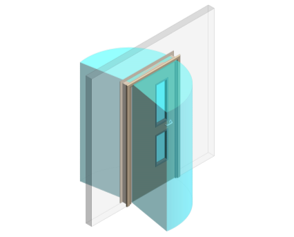 Revit, BIM, Download, Free, Components, Doorset, Single, Fire, Door, Doors, Finger, Guard, Education, School