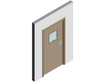 Revit, BIM, Download, Free, Components, Doorset, Double, Fire, Door, Doors, Ligature, Health, Care, Sure, Close, Healthcare