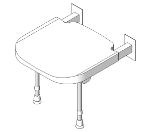 4000 Series Standard Shower Seat