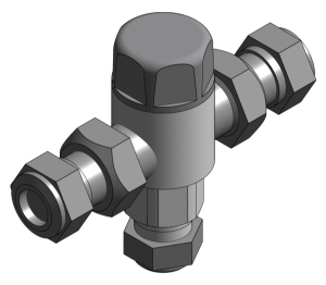 Revit, Bim, Store, Components, MEP, Object, Altecnic, Mechanical, Pipe, Merchant, 5213, Thermostatic, Mixing, Valve