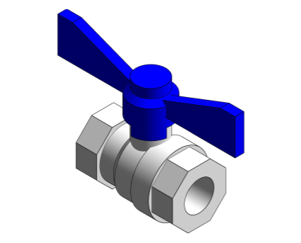 Revit, Bim, Store, Components, MEP, Object, Altecnic, Mechanical, Pipe, Intaball, butterfly, Ball, Valve, blue, Handle, Hot, Water, bsp