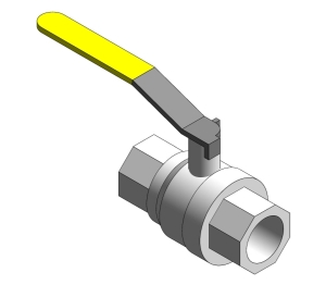 Intaball Lever Ball Valve for Gas (BSP) - Yellow Handle