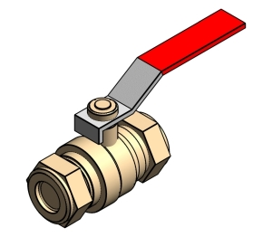 Intaball Lever Ball Valve - Red Handle
