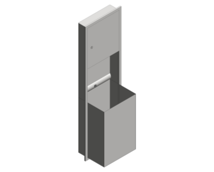 Revit, Bim, Store, Components, Generic, Model, Object, 13, American, Specialties, Inc., Paper, Towel, Dispenser, Waste, Receptacle, 0469-BL